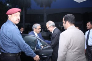 Mr. Mohsin Musthaq Chandna receive the Chief Guest Mr. Tariq Bajwa, Governor State Bank of Pakistan
